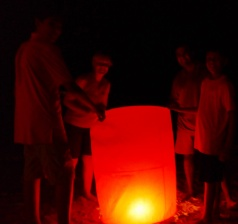 According to Thai tradition, we make a wish before releasing the lantern.