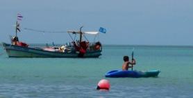 Aidan kayaking