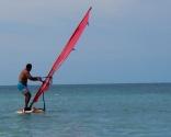 Now Neerav is actually windsurfing.