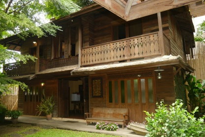 It's our very own rice barn. For $75/night, we have the entire building!