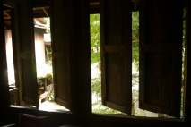Windows in our rice barn