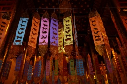 Donate money and you get to hang one of these ribbons in your name. The color either corresponds with the day of the week that you were born or your Chinese/Thai zodiac sign.