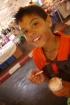 Aidan and his coconut chocolate chip ice cream.