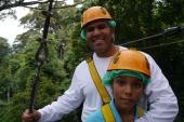 Neerav and Aidan in the trees