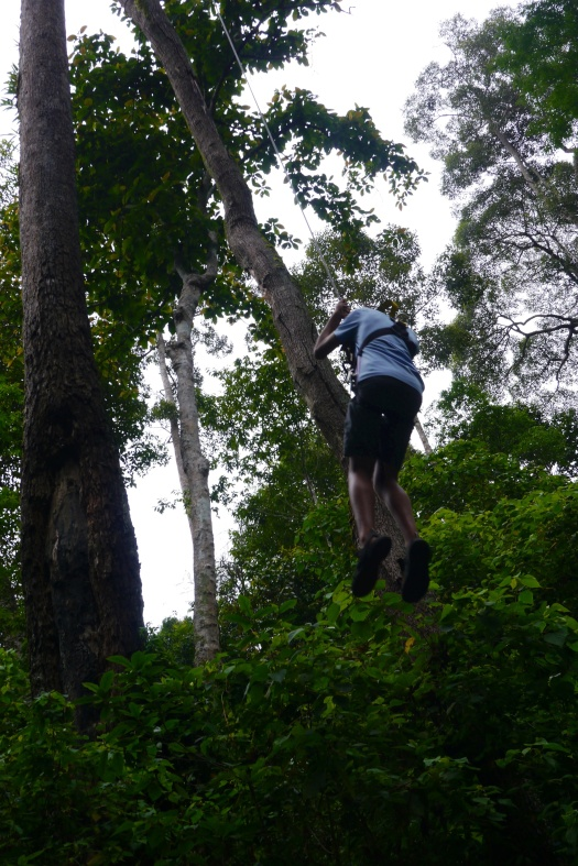 Nathan abseiling