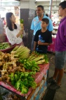 Herbs at market: ginger, lemongrass, and basil