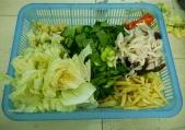 Veggies cut and ready