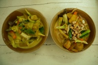 Green Thai curry and Masaman curry