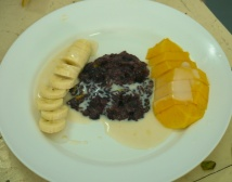 Banana and Mango Sticky Rice with Coconut Milk... seriously delicious!