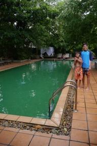 Green pool at The Kabiki