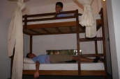 The room has bunk beds too.