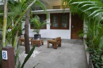 The patio area outside our room
