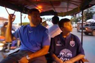 Phnom Penh has 4-seater tuk-tuks. Much more comfortable.