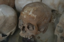 One of the thousands of skulls recovered from the Killing Fields.