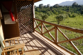 Deck outside room at Rhino Lodge