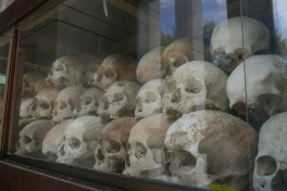 Just some of the skulls of victims unearthed at the Killing Fields