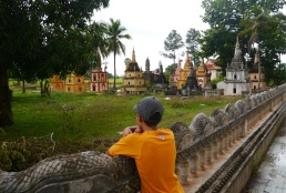 When a person dies, they are cremated. Their ashes are placed in a family stupa next to the village temple.