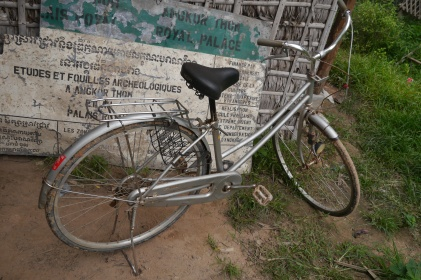 The family collected 1000 water bottles to earn this second-hand bicycle. More on the bottles later.