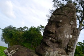 There are 54 Hindu god heads on the right side of the causeway leading to Angkor Thom.