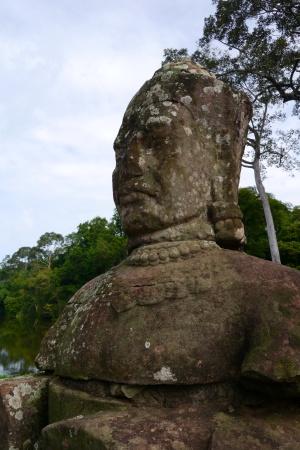 One of the original stone figures
