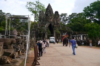 Entrance to Angkor Thom, or Great city, last capital of the Khmer Empire