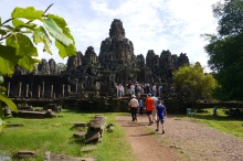 Bayon was built in late 12th century to early 13th century by the King Jayavarman VII, dedicated to Buddhist.
