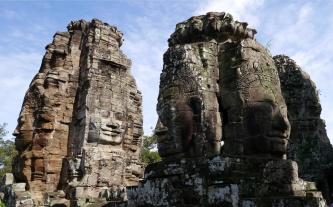 Bayon boasts 54 stone towers.