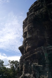 The faces is thought to be a combination of King Jayavarman VII and Buddha.