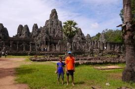 Aidan and Nathan at Bayan Temple