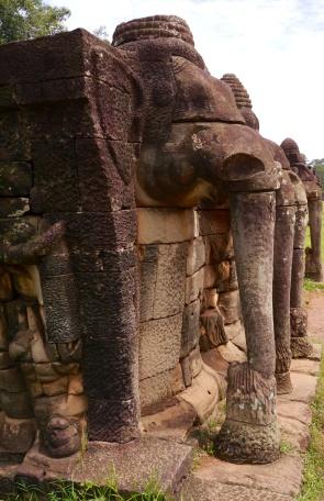 Elephant trunks in stone