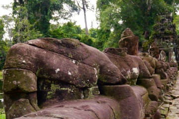 The guardians at Preah Khan. Some head were lost to nature; others were lost to thieves.