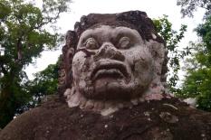 Demon at entrance to Prasat Preah Khan
