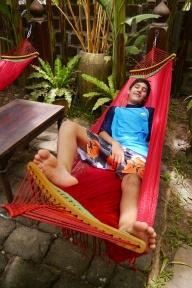 Nathan prefers hammocks to temples.
