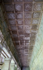 The bas relief is in good condition because the ceiling is still intact.