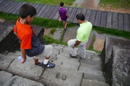 The ancient Khmer must have had really small feet.