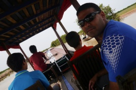 Headed down the Roulos River to Kompong Phulek