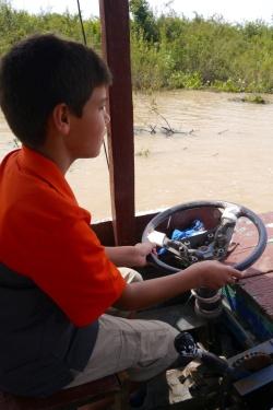 Aidan at the helm
