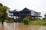 Given how high the houses are built, you can imagine how high the water gets in the later rainy season.