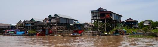 Homes in village of Kampong Phluk