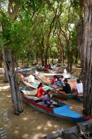 Villagers from Kampong Phluk awaiting tourists