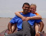 Neerav and Shellie on Tonle Sap Lake