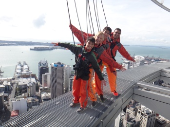 We spent our layover in Auckland on top of the Skytower, the tallest building in the Southern Hemisphere.