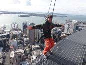 Aidan almost on the edge