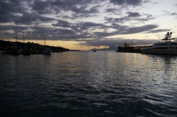 Sunset in Papeete harbor
