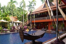Poolside at Goledn Temple Hotel