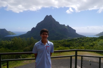 Nathan at Belvedere Lookout on Moorea