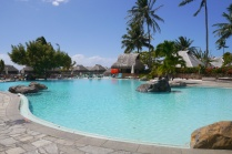 The pool is not as impressive as the beach at Hilton Moorea Lagoon Resort & Spa.