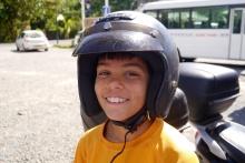 Aidan is still all smiles.
