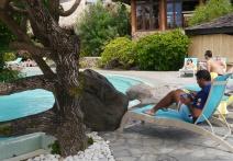 Neerav working poolside