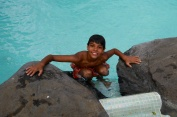 The pool is cold!